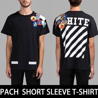 15S/S HOT トレンドストリートファッションSTYLE!斜線のパッチ半袖Tシャツ/DIAGONAL LINE PACH T-SHIRTS