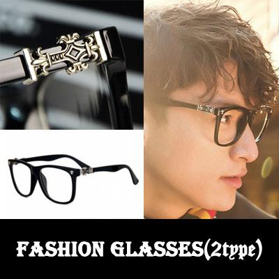 セレブに愛されるトレンドファッションスタイルアクセサリー!Chrome h st. cross detail glasses(2type)