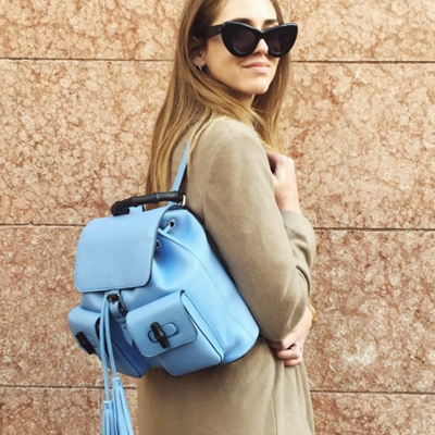 ブランドアイテム☆海外セレブ愛用のファッションバッグ!竹のハンドルがユニークなCuc* st. Bamboo handle backpack