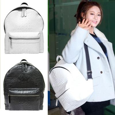 韓国芸能人に愛されるファッションバッグ!Bru* st.スネーク革風RODEバッグパック