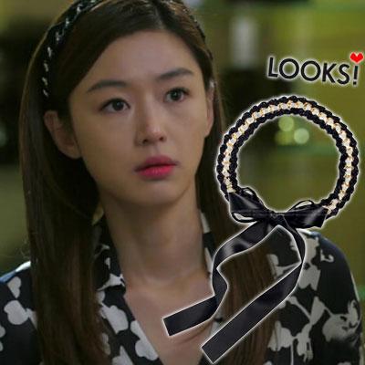 人気韓国ドラマ「星から来たあなた」でチョン・ソンイ着用カジュアル&ラブリーアイテムKnit chain hair band(2type/2color)