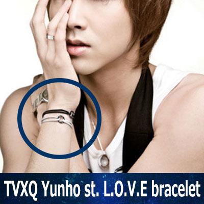 TVXQ(東方神起) ユンホ&多数のスターが着用した L.O.V.E ラブブレスレット(RED,BLACK,BLUE)