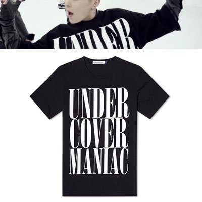 EXO 2集アルバム EXODUS 新曲[Call me baby]MV XIU MIN着用style! BIG LETTERING LOGO OVER FIT 半袖Tシャツ