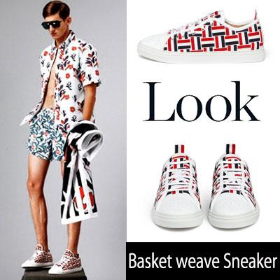[24.5~28.0cm]海外ファッションセレブから愛されているスタイル!バスケットウェーブスニーカー/Basket weave Sneaker