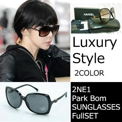 K-POPファッションアイコン2ne1のボムSTYLE!で話題になったLuxury Style サングラス(2color)/ Side Logo Sunglasses