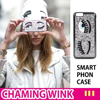 愉快で魅力的な女の子のウィンクキャラクタースマホケース/CHAMING WINK  SMART PHON CASE