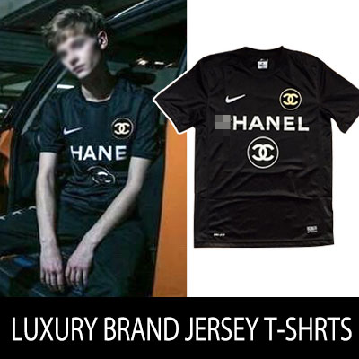 ★UP GRADE VER.DRY FIT★LUXURYブランドの最強コラボ!ブランドコラボジャージーTシャツ(whiteblack/UNISEX)/LUXURY BRAND COLLABO JERSEY T-SHRTS