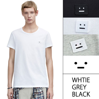 海外ファッションセレブに人気!SIMPLE ICON FACE T-SHIRTS(UNISEX/WHITE,GREY,BLACK)