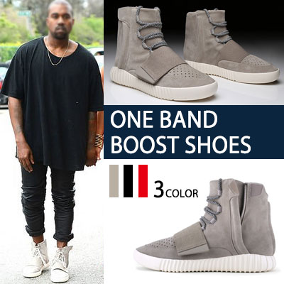 カニエ・ウェストSTYLE!ONE BAND BOOST シューズ(BEIGE,BLACK,RED)KANYE WEST STYLE