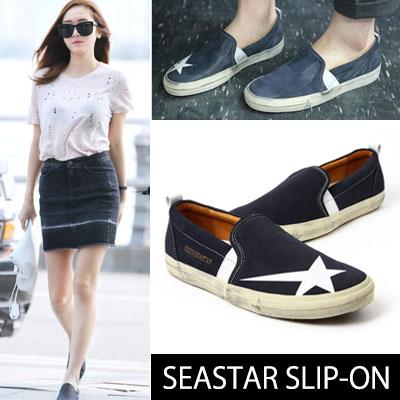 少女時代のジェシカ空港ファッションスタイル!SEASTAR SLIP-ON(230~270mm)