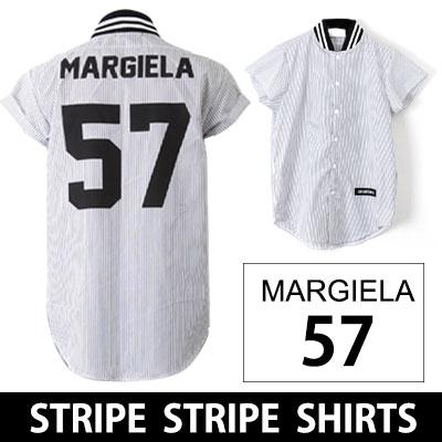 海外ストリートファッション!BLACK NUMBER 57 ストライプ半袖シャツ/BACK NUMBER 57 STRIPE STRIPE SHIRTS