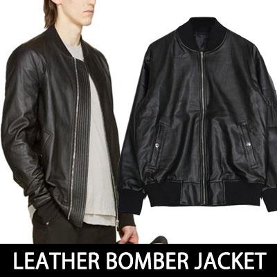 アバンギャルドストリートファッションスタイル!LEATHER BOMBER JACKET