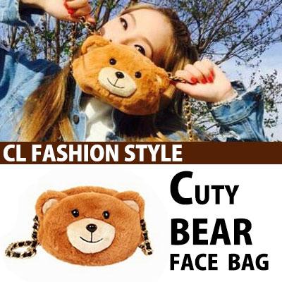 2NE1 CLも愛するホットアイテム!キューティーベアショルダーバッグ/CUTY BEAR SHOULDER BAG