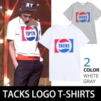 SHINEE ジョンヒョンがM-NETリハーサルSTYLE TACKS LOGO ユニークTシャツ(Unisex/WHITE,GRAY)