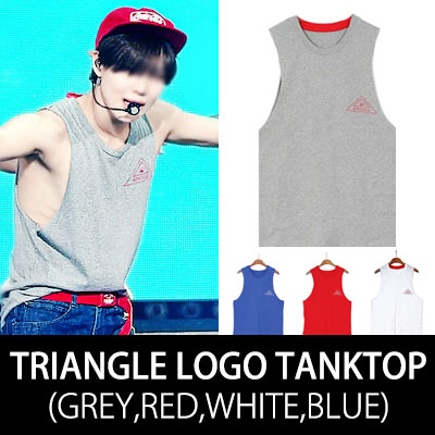 MUSIC BANK SHINEEテミンスタイル! TEAMIN STYLE!TRIANGLEL ロゴタンクトップTRIANGLE LOGO TANKTOP (GREY,RED,WHITE,BLUE)
