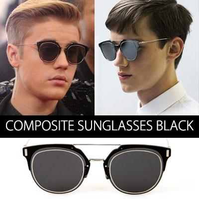 Justin Bieberなどのハリウッドセレブたちに大ブレイク中!Composite[BLACK] UV SUNGLASSES(FULL SET)