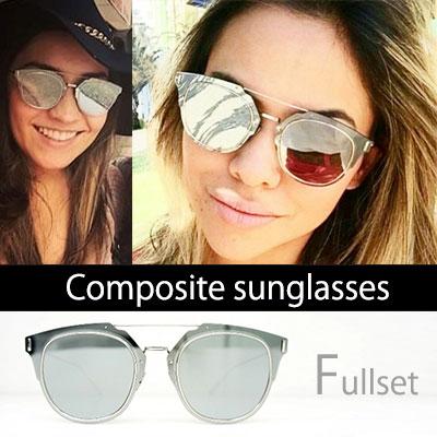入荷困難!ハリウッドなどで人気爆発!話題の人気サングラス!Composite[SILVER] UV SUNGLASSES(FULL SET)