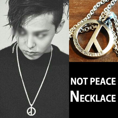 BIGBANG G-DRAGON FASHION STYLE!NOT PEACE ペンダント/GDネックレス/ NOT PEACE GD NECKLACE