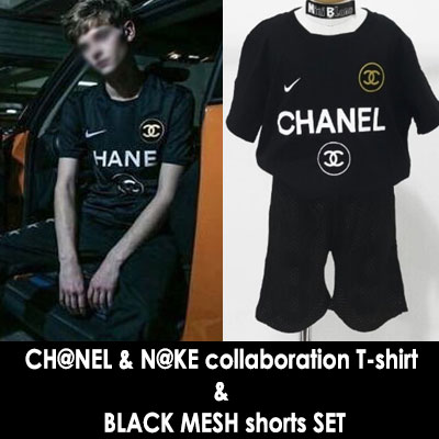 韓国子供服 LUXURYブランドの最強コラボ!ブランドコラボTシャツ+ショーツセット