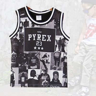 韓国子供服 うちの子供もストリートファッション パイレックスタンクトップ PYREX TANKTOP
