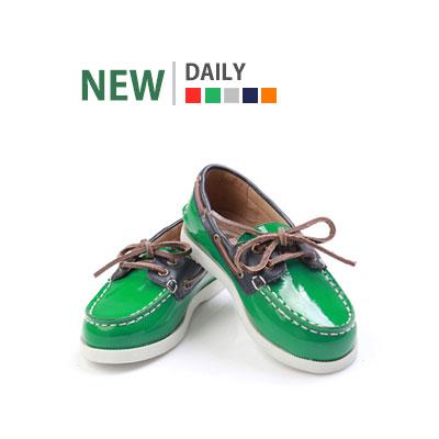 韓国子供靴[BUDDY/DAILY] キッズフォーマルシューズ!エナメル素材のローファー(5colors)