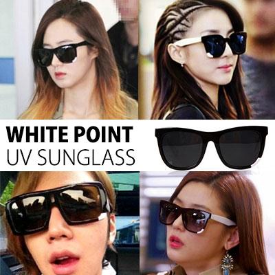 2NE1サンダラ、少女時代のユリからチョン·ジヒョン、チャン·グンソクの韓国スターらにすごく人気!WHITE POINT UV SUNGLASSES