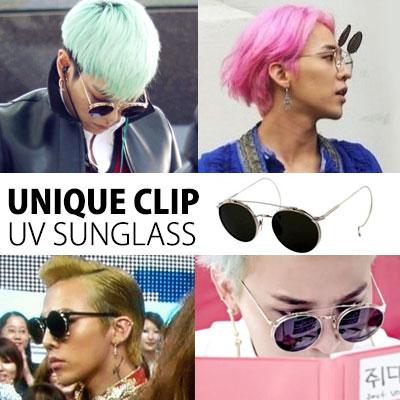 BIGBANG のG-DRAGON、TOPなどの韓国スターたちに人気!ユニークなデザインのTM ST.CLIP  UV SUNGLASSES