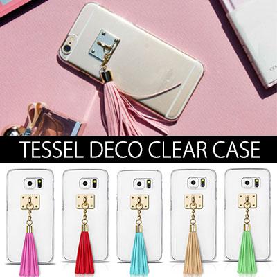 自分でアレンジできる大人っぽい雰囲気のタッセルクリアフォンケースTESSEL DECO CLEAR CASE