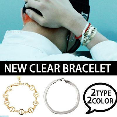 シンプルでオシャレ~!BIGBANG GD NEW CLEAR BRACELET レイヤードブレスレット(GOLD,SILVER)G-DRAGON