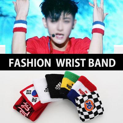 EXO とアイドルなども愛用するファッションアイテム!リストバンド8Type/Wrist band