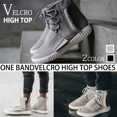 KANYE WESTスタイル!ONE BAND ベルクロハイトップシューズ/ONE BAND BOOT VELCRO HIGH TOP SHOES