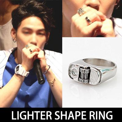 今、ホットアイドルGOT7 STYLE!シックでユニークな感覚のライター形のリング/LIGHTER SHAPE RING