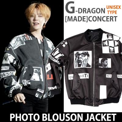 BIGBANG G-DRAGONが[MADE]ワールドツアーコンサート活動スタイル!フォトブルゾンジャケット