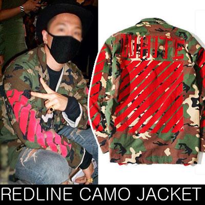 ★再入荷完了★BIGBANG TAEYANG(SOL)、SHINee Key、BEASTヒョンスンSTYLE!!カモレッドライン刺繍パッチジャケット/camouflage