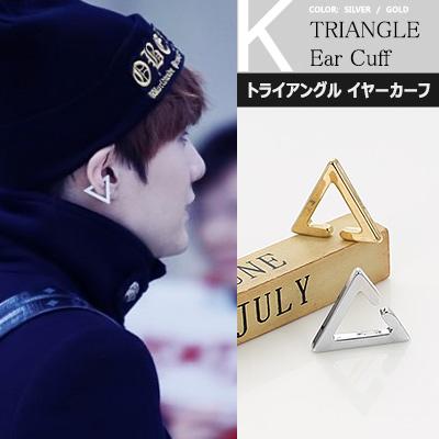 防弾少年団(BTS)スタイル! Triangle ear cuff トライアングル イヤーカーフ1個