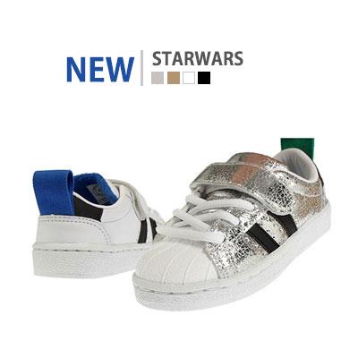 韓国子供靴[BUDY/STARWARS SNEAKERS]スポーティーでビンテージスタイルのスニーカー(4Colors)