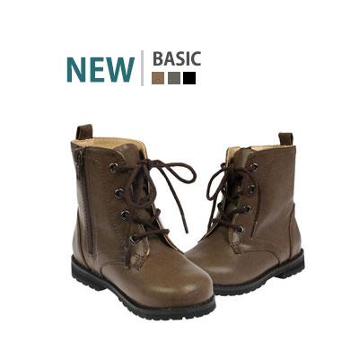 韓国子供靴[BUDY/BASIC WALKER]すっきりとしたベーシックなデザインに秋なカラー感!ハイトップウォーカー(3Colors)