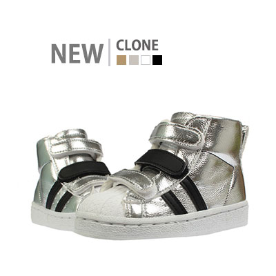 韓国子供靴[BUDY/CLONE SNEAKERS]2本のラインが入ったスポーティーやカジュアル両方ともオーケーのスニーカー (4Colors)