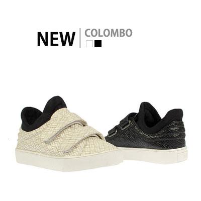 韓国子供靴[BUDY/COLOMBO SNEAKERS]クロッカーエンボスがポイントのオシャレなスニーカー(2Colors)