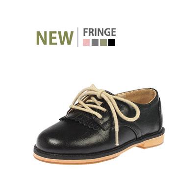 韓国子供靴[BUDY/FRINGE FW LOAFER]フリンジタッセルで可愛らしいのイメージのローファー(4Colors)