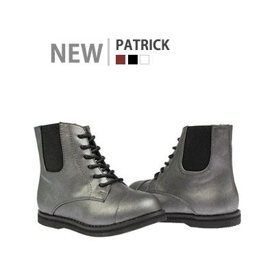 韓国子供靴[BUDY/PATRICK WALKER]シックな魅力が感じられるサイドのバンディングでフィット感の良いウォーカー (3Colors)