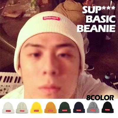 韓国ラッパーBeenzino Style!定番人気アイテムSUPR **st.BASICビーニー(8COLOR)