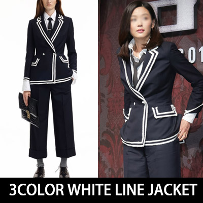 都会的なシックさとモダンなスタイリッシュさが感じられるチョン・ジヒョンスタイル!ホワイトラインジャケット