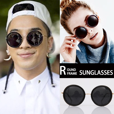 BIGBANG TAEYANG STYLE!ユニークなラウンドフレームサングラス/ROUND FRAME SUNGLASSES