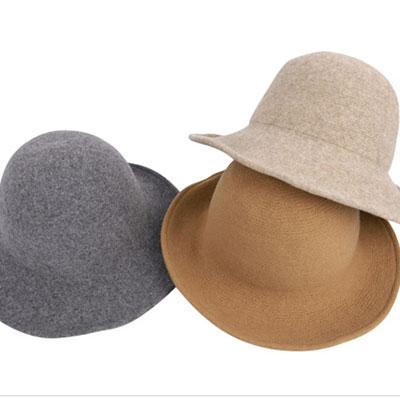 [秋のデイリー&ストリートアイテム]暖かい感じのベーシックな丸みを帯びたデザインのスタイリッシュな 帽子