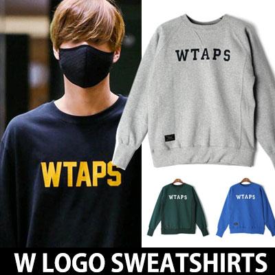 ★選べる4カラー★EXO KAY空港ファッションスタイル!Wロゴスウェットシャツ/W LOGO SWEATSHIRTS