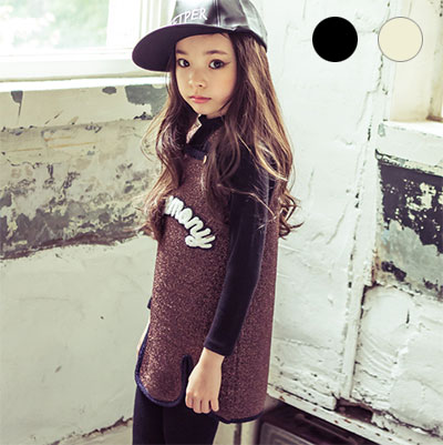韓国子供服 [LIPOP/MOCK TURTLENECK]使いやすいベーシック無地タートルネック子供Tシャツ