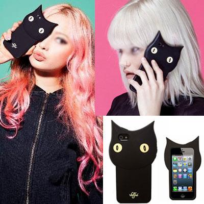 3D クロネコスマホケース/BLACK CAT SMART PHONE CASE[iPhone5/5S,iPhone6]スマホケース/アイフォン  ケース