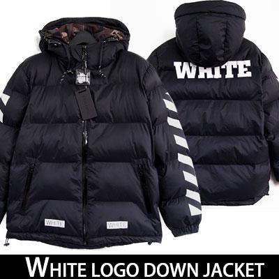 ★男性(XL)SIZE追加★真冬の寒さにも負けない!オシャレで暖かいWHITE LOGOダウンジャケット-DOWN80% FEATHER20%