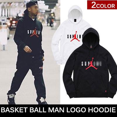海外での反応が熱いバスケットボールマンロゴプルオーバーフーディー/BASKET BALL MAN LOGO HOODIE